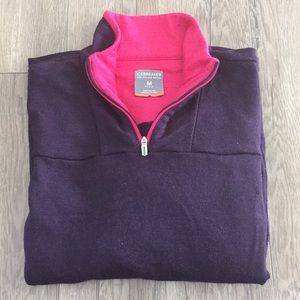 Icebreaker 100% Wool Purple and Pink Pullover